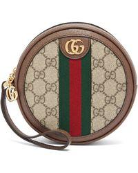 Gucci Ophidia Leather Wristlet Pouch - Multicolour