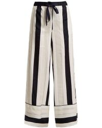 Adam Lippes - Striped Jacquard Trousers - Lyst