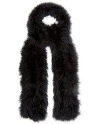 Yves Salomon - - Long Feather Scarf - Womens - Black - Lyst
