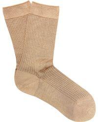 Falke - No.2 Silk Blend Polka Dot Socks - Lyst