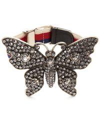 Gucci - Crystal-embellished Butterfly Bracelet - Lyst
