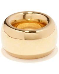 Bottega Veneta Chunky 18kt Gold-plated Ring - Metallic