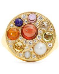 Noor Fares - Diamond, Topaz & Yellow-gold Ring - Lyst