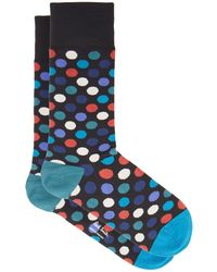 Paul Smith Polka-dot Cotton-blend Socks - Blue