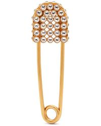 Burberry - Pavé Crystal Kilt Pin Brooch - Lyst