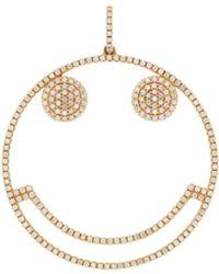 Rosa De La Cruz 18kt Yellow Gold Smiley Diamond Pendant - Metallic