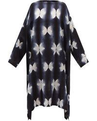 Eskandar Shibori-dyed Silk-satin Dress - Blue