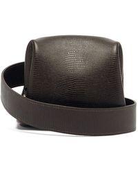 OSOI Peanut Brot Lizard-effect Leather Cross-body Bag - Brown
