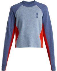 LNDR - Contrast Panelled Wool Jumper - Lyst