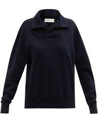 Les Tien ヨット コットンスウェットシャツ - ブルー