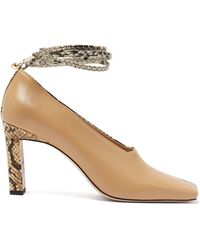 Wandler Isa Two-tone Square-toe Leather Court Shoes - Multicolour