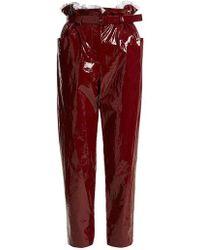 Isa Arfen - Paperbag-waist Straight-leg Cropped Trousers - Lyst