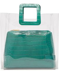STAUD Shirley Leather & Pvc Tote Bag - Green