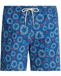 Le Sirenuse - Starfish Print Swim Shorts - Lyst