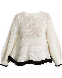 Apiece Apart - Quasar Contrast Trim Cotton Blend Jumper - Lyst
