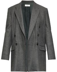 Étoile Isabel Marant Eagen Checked Double-breasted Blazer - Gray
