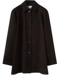Lemaire ラグランスリーブ コットンオーバーシャツ - ブラック