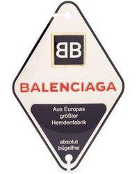 Balenciaga Bronze Double-b Engraved Badge - Metallic