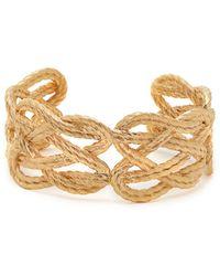 Aurelie Bidermann Brandebourg 18kt Gold Plated Cuff - Metallic