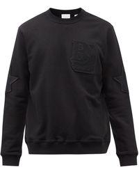 Burberry ロゴモチーフ コットンスウェットシャツ - ブラック