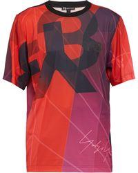 Y-3 - Logo Print Football T Shirt - Lyst