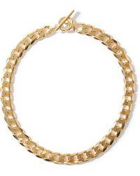 All_blues Moto 18kt Gold-vermeil Necklace - Metallic