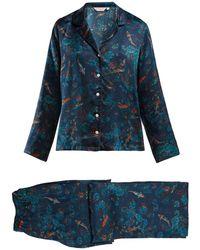 Derek Rose - Brindisi Fish-print Silk Pyjamas - Lyst