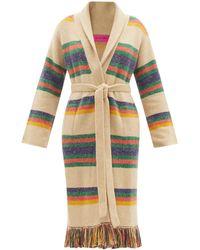 The Elder Statesman Pier Striped Cashmere Cardigan - Multicolour