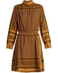 Cecilie Copenhagen - Mieka High-neck Scarf-jacquard Cotton Dress - Lyst