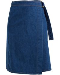 M.i.h Jeans Ria Cotton-chambray Wrap Skirt - Blue