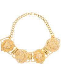 Raf Simons Yellow Quartz & 18kt Rose Gold Shell Charm