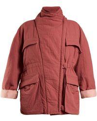 Isabel Marant - Emmet High-neck Cotton Coat - Lyst