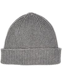 Paul Smith - Cashmere And Merino Wool-blend Beanie Hat - Lyst