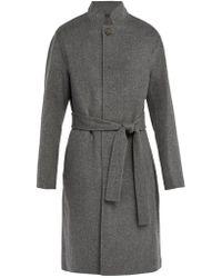 Acne Studios - Belted Wool-blend Coat - Lyst