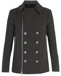 Balmain - Wool Duffel Coat - Lyst