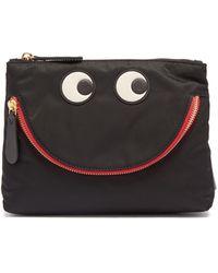 Anya Hindmarch Pochette noire Happy Eyes - Multicolore