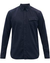 Belstaff ピッチ コットンポプリンシャツ - ブルー