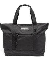 Balenciaga オーバーサイズ リサイクルナイロン トートバッグ - ブラック