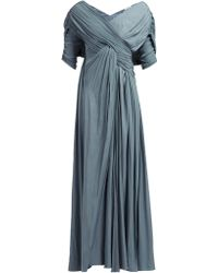 Lanvin Gathered Voile Gown - Blue