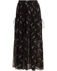 Chloé - Paisley-jacquard Chiffon Skirt - Lyst