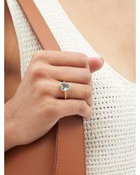Irene Neuwirth Love Aquamarine & 18kt Gold Ring - Blue