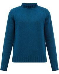 Studio Nicholson Toesa Roll-neck Wool Jumper - Blue