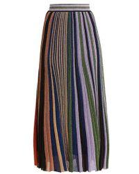 Missoni - Vertical Striped Pleated Skirt - Lyst