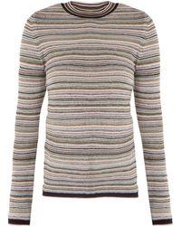 M.i.h Jeans - Moonie Striped Wool Blend Jumper - Lyst