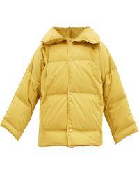 Bottega Veneta Frosted Cotton-poplin Down Jacket - Yellow