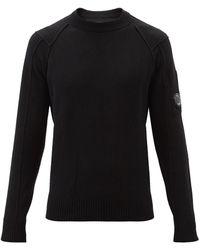 C.P. Company ウールブレンドセーター - ブラック