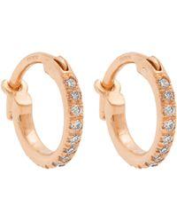 Ileana Makri - Diamond & Rose-gold Earrings - Lyst