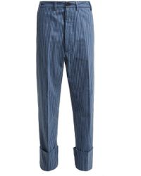 Vivienne Westwood - Cropped Cotton Flannel Trousers - Lyst