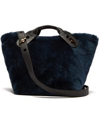 Sophie Hulme - Bolt Shearling Tote Bag - Lyst
