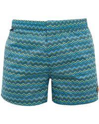 Missoni - Zigzag Print Swim Shorts - Lyst